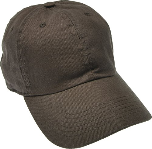 Hand By Hand Aprileo Solid Cotton Cap Washed Hat Polo Camo Baseball Ball Cap [23 Brown](One (Brown Ball Cap)