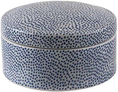 Better & Best Caja Redonda Grande Moderno, Color Azul, Cerámica ...