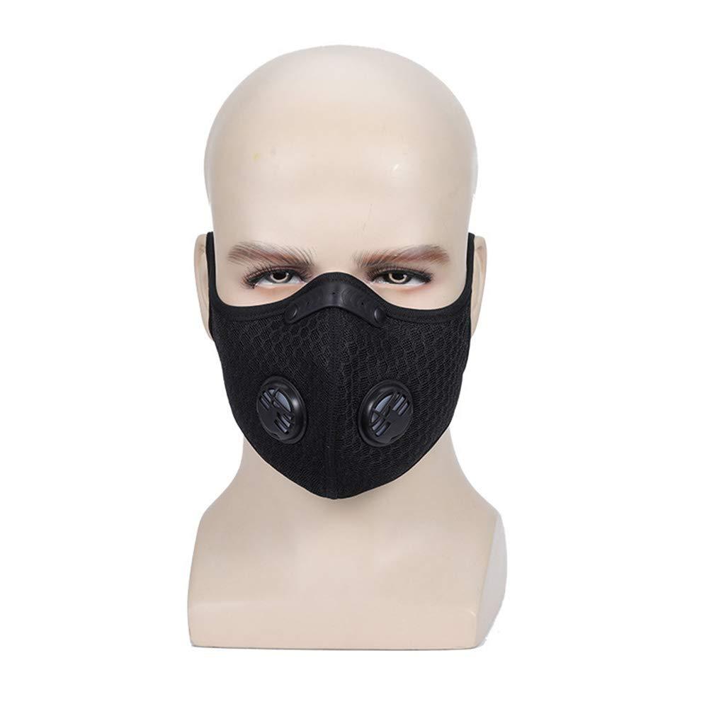 Máscara de seguridad de 5 capas de carbón activado para entrenamiento de oxígeno, máscara antipolvo