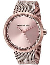 Armani Exchange Women's AX4503  Rose Gold Mesh Band Watch