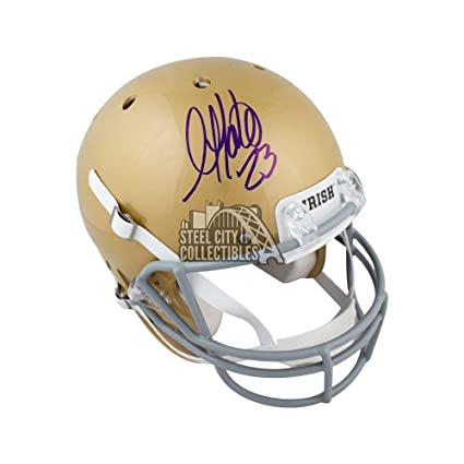2e28b6c922f Golden Tate Autographed Signed Notre Dame Full -Size Football Helmet ...