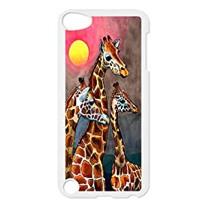High Quality Phone Back Case Pattern Design 19Giraffe Animal- FOR Ipod Touch 5