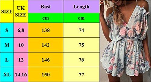Royaume-uni Des Femmes De Vacances De Style Mini-dames Combishort Salopette Short D'été Robe De Plage 6-16: P Uk Taille 10 Style: H Taille Uk 14