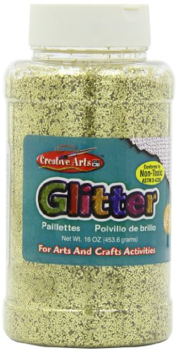 Creative Arts by Charles Leonard Glitter, 16 Ounce Bottle, Gold (41170) by Charles Leonard