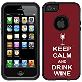 Skin Decal for OtterBox Commuter Apple iPhone 5 & iPhone 5S Case - KEEP CALM and Drink Wine