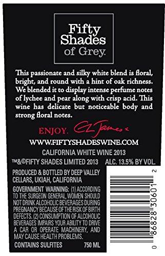 2013 Fifty Shades of Grey White Silk 750 mL Wine