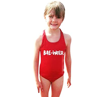 8a50a9d405 Moonker Hot Sale Kids Swimsuit! Children Girls Letter Print One Piece  Bathing Cover up Swim