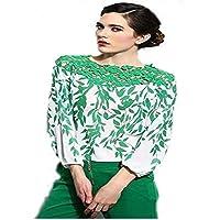 Ladies Long Sleeve Blouse Lace Splicing Chiffon Women Shirt Clothing Sv00161\8 Xl