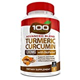 100% Natural Turmeric Curcumin 1300mg Supplement with Bioperine® -With 95% Standardized Curcuminoids- Gluten Free, None GMO, Maximum Strength Turmeric Pills with Black Pepper. Made in USA (60 cap)