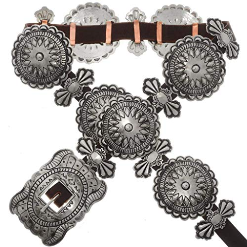 Native American Concho Belt Hammered Silver Patterns 1331