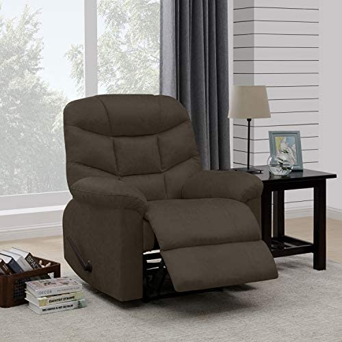 Domesis Wall Hugger Recliner in Brown Distressed Faux Leather