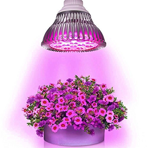 eSavebulbs 14W LED Grow Light E27 Led Plant Growing Bulbs for Greenhouse Lighting Spotlight Hydroponic Plant Reflector Lamp 7 Leds 6Red/1Blue