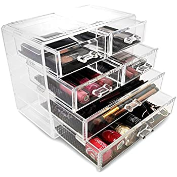 Sorbus® Acrylic Cosmetics Makeup And Jewelry Storage Case Display  2 Large  And 4 Small
