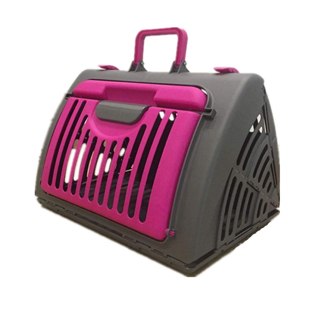 FZQ Pet Transport Box,Folding Pet Convenience Bag, Multi-Ventilation Large Export Design, Durable, Comfortable and Spacious, Suitable for Small Cats and Dogs,Pink