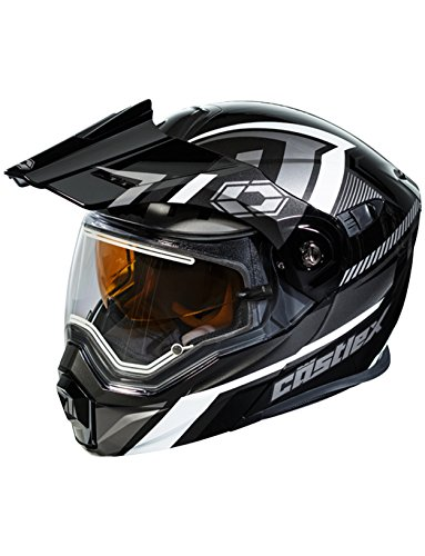 Castle X EXO-CX950 Slash Electric Snowmobile Helmet (XLG, Black/Gray)