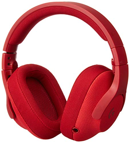 Logitech G433 7.1 Wired Gaming Headset with DTS Headphone: X 7.1 Surround for PC, PS4, PS4 PRO, Xbox One, Xbox One S, Nintendo Switch - Fire Red