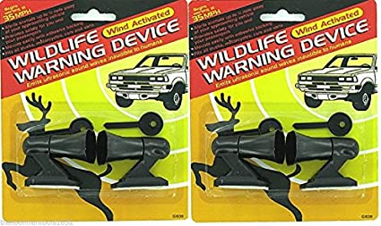 4 Ultrasonic Car Deer Warning Whistles 2 Packs Auto Safety Alert Device !