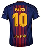 FC BARCELONA MESSI #10 FOOTBALL SOCCER KIDS/YOUTH HOME JERSEY (M size (for age 8-10))