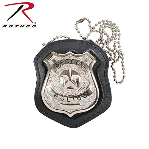 (Rothco Leather Cut Out Clip-On Badge Holder)