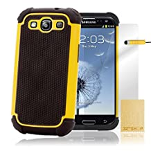 32nd Shock Proof Heavy Duty Defender Case Cover for Samsung Galaxy S3 Siii i9300 - Yellow