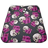 MULTIVARIANT STYLE Professional Cutting Hair Waterproof Cloth Salon Barber Gown Cape Hairdressing Hairdresser Sugar Skull Flowers Floral Skeleton 5566 in