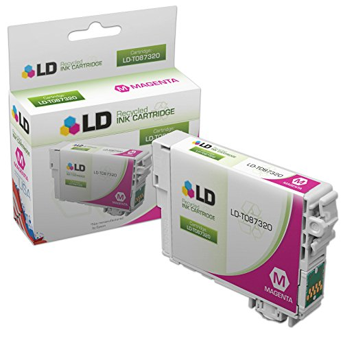 LD Products Remanufactured Ink Cartridge Replacement for Epson T087 ( Magenta , 1-Pack ) (T087320 Magenta Ink)