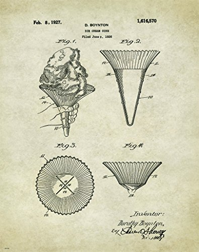 ice-cream-museum-patent-poster-art-print-11x14-vintage-scoop-parlor-sign-cones-sales-equipment-wall-
