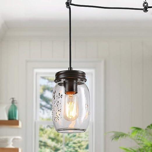 Country new half gallon MASON JAR pendant hanging light //PLUG IN LIGHT