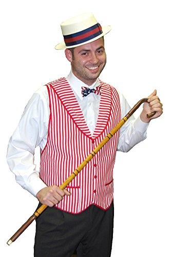 Adult-Costume Gay Nineties Vest Deluxe Halloween Costume - Most Adults (Sexy Gay Halloween Costumes)