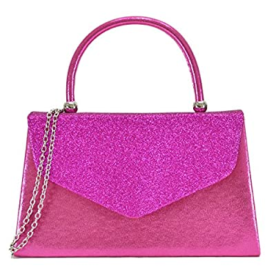 Dasein Women's Evening Bags Party Clutches Wedding Purses Cocktail Prom Handbags with Frosted Glittering