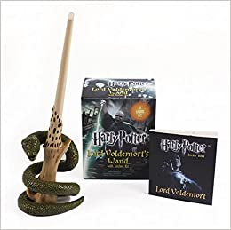 harry potter voldemorts wand with sticker kit lights up miniature editions