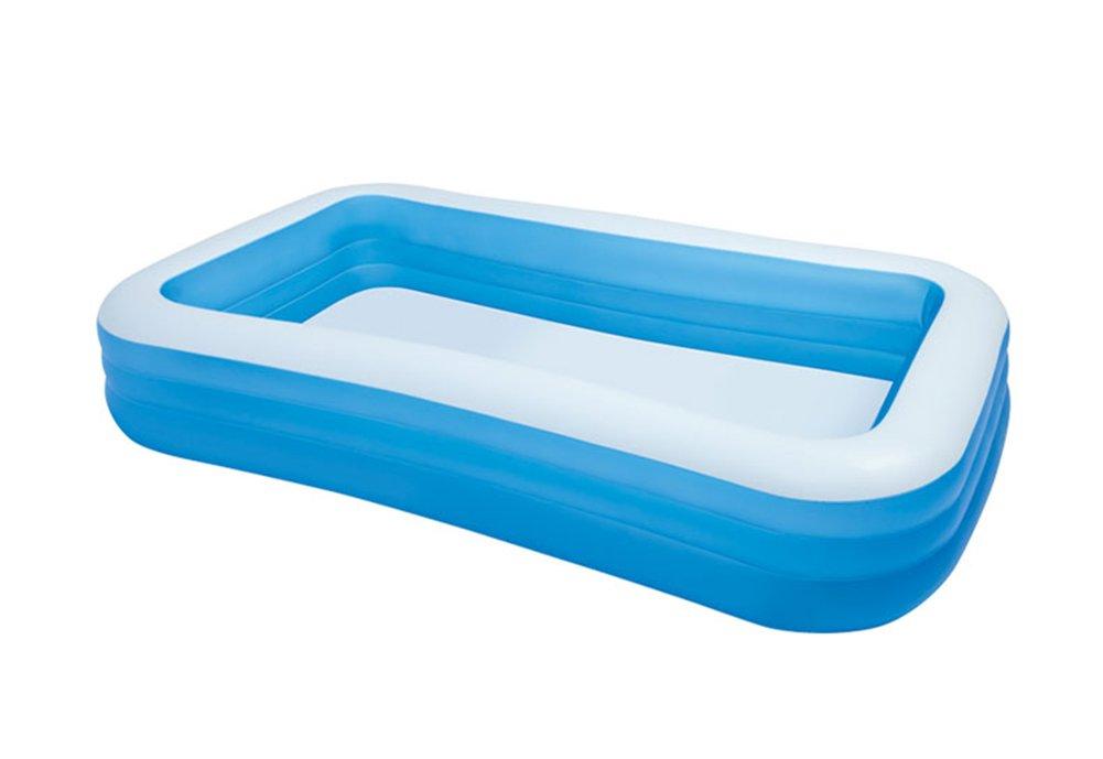 Inflatable Bathtub, Plastic Household Round Bathtub Thickened Folding Portable Bath Adult Bathtub Outdoor Swimming Pool (Color : #1)