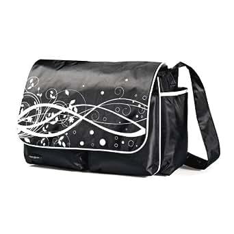 Samsonite Unisex-Baby Newborn Messenger Diaper Bag, Black/White, 16 (Discontinued by Manufacturer)