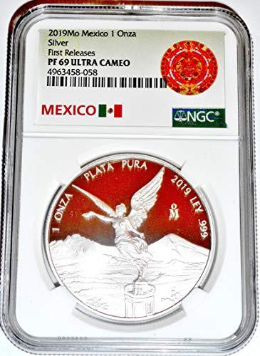 2019 MX Libertad Mexico 1 Oz Silver Proof NGC Certified PF69 Ultra Cameo First Libertad PF-69 NGC