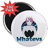 CafePress - Emoji Unicorn Whatevs - 2.25'' Magnet (100 pack)