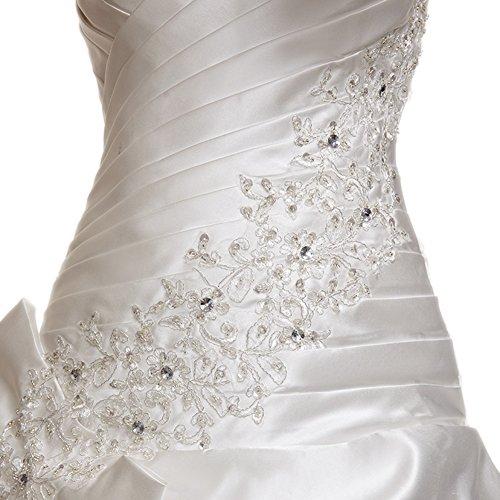 Kapelle Damen Kleid Ballkleid Hochzeit Weiß engerla Zug Sweetheart qvt1wfxx4