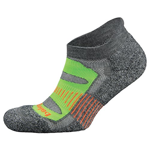 Balega Blister Resist No Show Running Socks For Men and Women (1 Pair), Charcoal Lime, X-Large ()