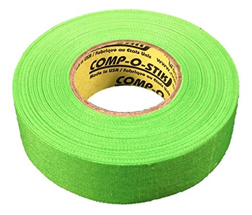 3 Rolls of Comp-O-Stik NEON GREEN Hockey Lacrosse Bat Cloth Stick Tape ATHLETIC TAPE (3 Pack) Made In The U.S.A. 1'' X 60'