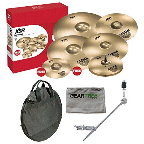 (Sabian XSR5007SB XSR Cymbal Super Set w/Geartree Cloth, Bag, and Cymbal Arm)