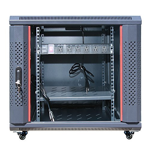 12U 35'' Depth Server Rack Cabinet Enclosure Fully Equipped! ACCESSORIES FREE! Fits Most Server Equipment Fully Lockable Network IT 19'' Enclosure Box