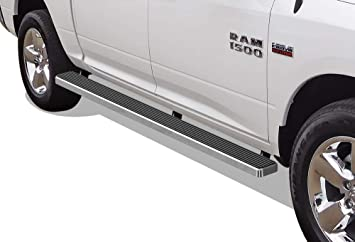 APS 5in Wheel-to-Wheel Black Nerf Bars Custom Fit 09-18 Ram Crew Cab 6.5ft Bed