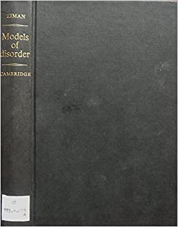 Book Models of Disorder: The Theoretical Physics of Homogeneously Disordered Systems