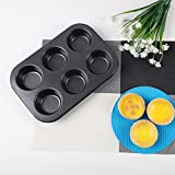 SHEbaking 6 Cup Professional Regular Nonstick Muffin Pan Carbon Steel Bakeware Mold (2)