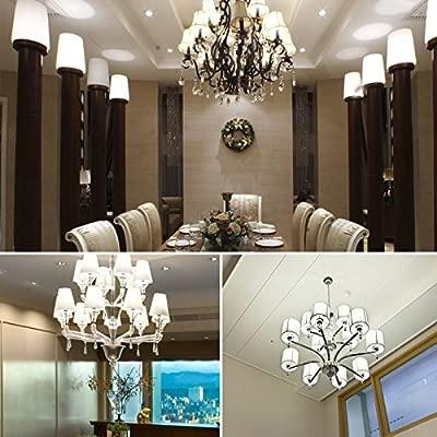 YIUN E27 Bombillas vela del LED, 20W LED Candelabra bombillas de 150 vatios equivalente, 1800lm, blanco frío 6000K, lámpara LED no regulables, paquete ...