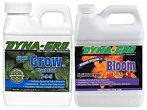 8 Ounce Liquid Plant Food (Dyna-Gro DYNAGB8OZSET Liquid Grow & Liquid Bloom, 8 oz)