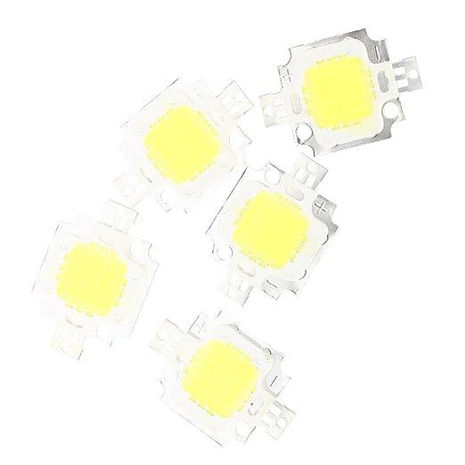 SODIAL(R) 5pcs 800LM Bombilla LED Alta Potencia 10W en Blanco Lamp Bulb