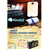 The Shave Well Company Fog Free Travel Mirror (Miroir de voyage anti-buée)- Suction Cup Included - Now shave in the shower at the gym or while traveling away from home