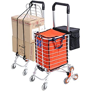 Amazon Com Folding Shopping Cart With Stair Climbing