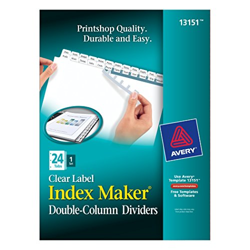 Avery Index Double Column Dividers 13151