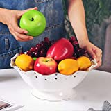 RXY-BOWL European Hollow Gold Ceramic Fruit/Dried Fruit Plate Home Living Room Decorative Bowl (Size : 27.5x27.5x11.8cm)